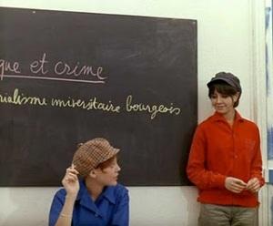 """Escena del film """"La Chinoise"""". J.L.Godard."""